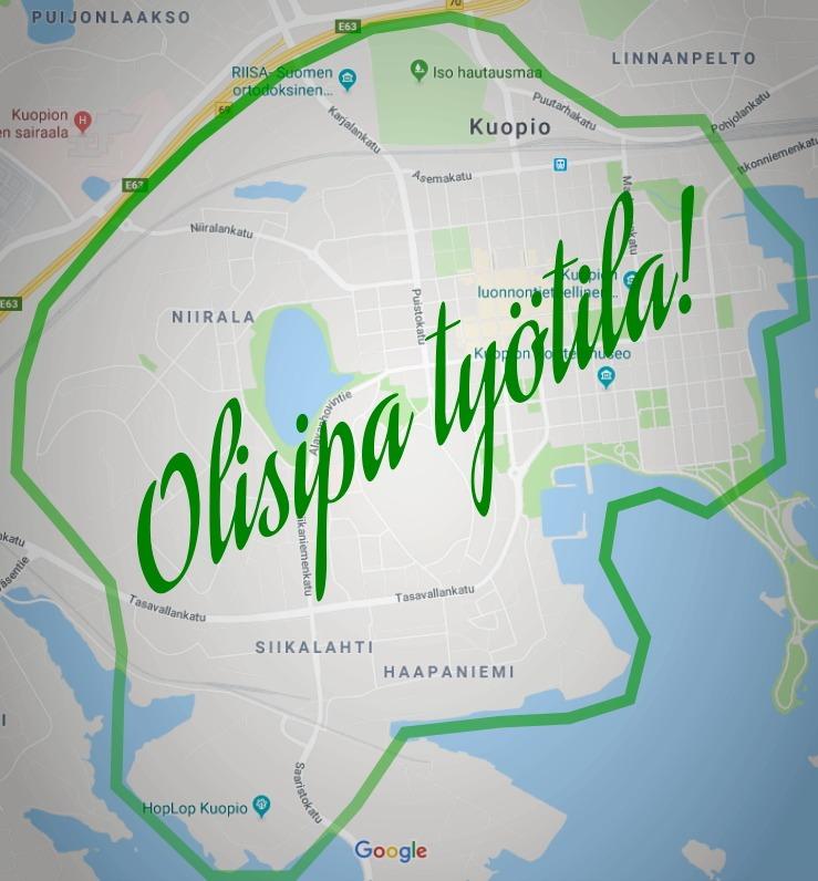 Työtila hakusessa Kuopion keskustasta